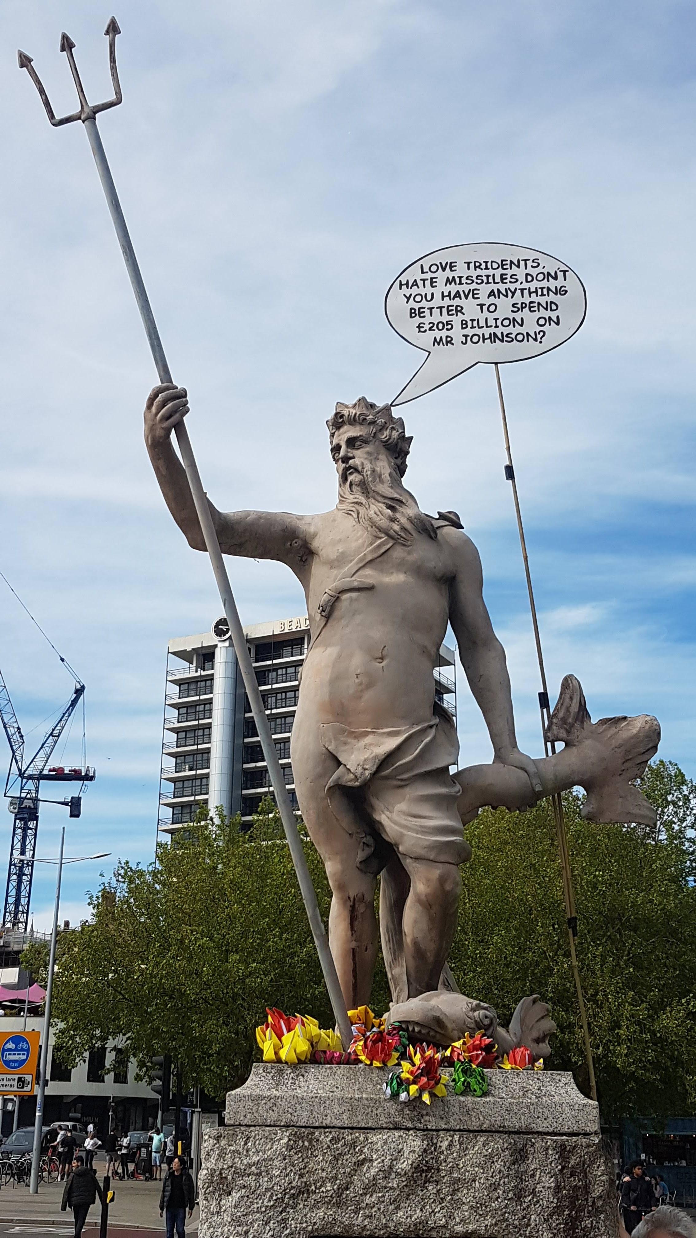 Statue of Neptune in Bristol.