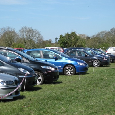 Cars parked on Clifton Downs