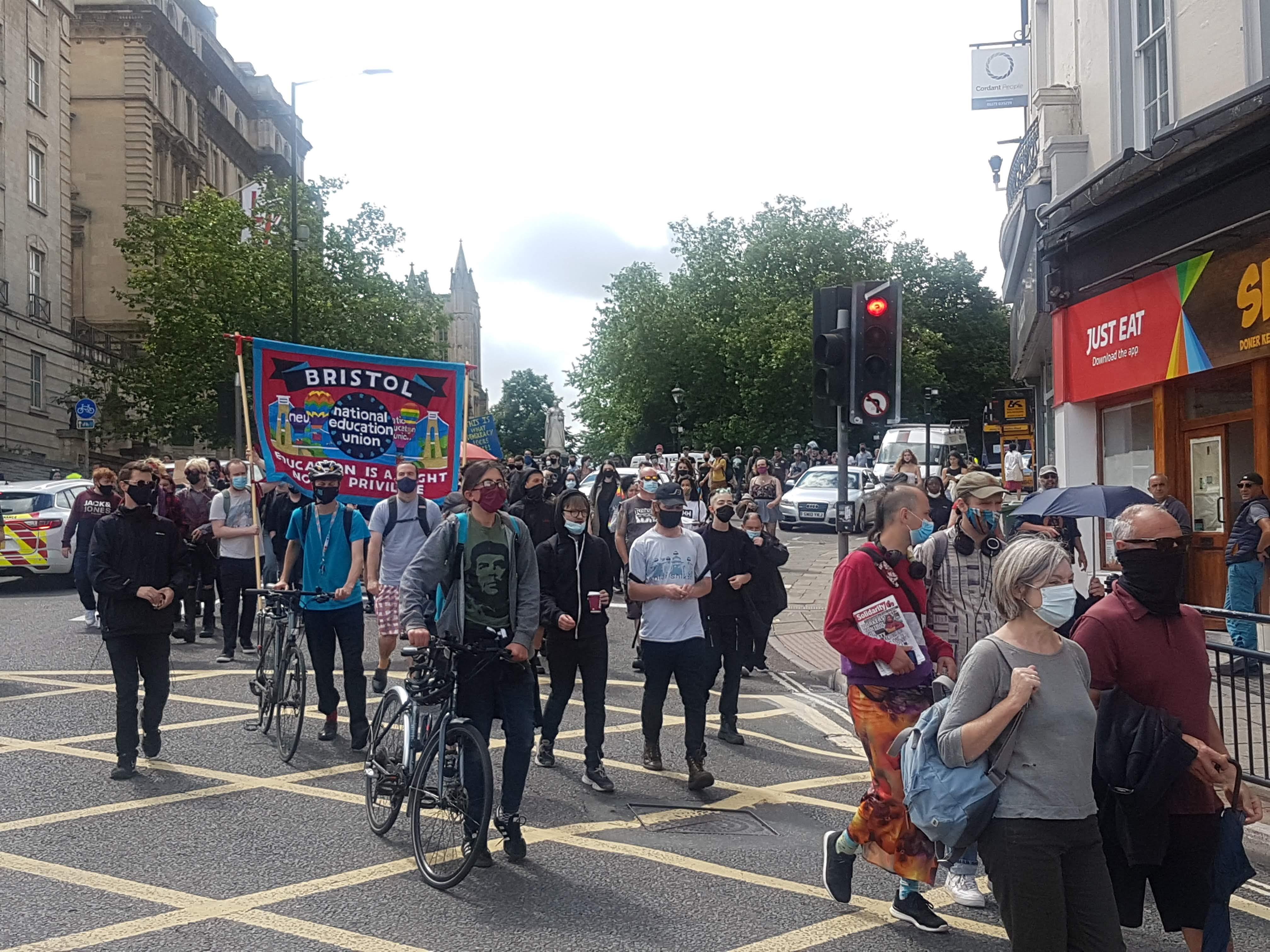 Kill The Bill march in Bristol.